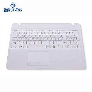 Teclado para Notebook Samsung Expert X41 NP300E5K Com Top Cover Branco