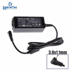 Fonte Notebook Compatível Samsung 19v 2.1a 3.0x1.1mm Replacement Ac Adapter ZH-65-921