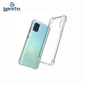 Capa Silicone Tpu Transparente Borda Anti Impacto Anti-Shock Samsung Galaxy A71