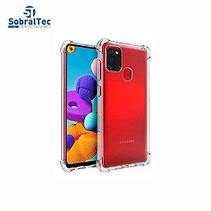 Capa Silicone TPU Transparente Borda Anti Impacto Anti-Shock Samsung Galaxy A21s