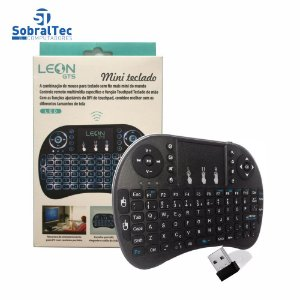 Mini Teclado Leon Gts Wireless Iluminado Com Mouse Smartphones Leon-429
