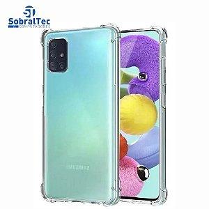 Capa Silicone TPU Transparente Borda Anti Impacto Anti-Shock Samsung Galaxy A51