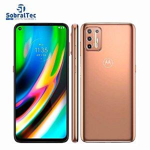 """Smartphone Motorola Moto G9 Plus Ouro Rosê 128GB, 4GB RAM, Tela de 6.8"""", Câmera Traseira Quádrupla, Android 10 e Process"""