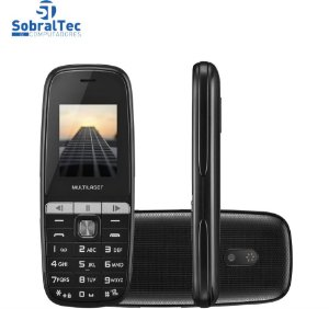 Celular Up Play Multilaser P9076, 2 Chips, Câmera, MP3 Player, Rádio FM e Bluetooth - Preto