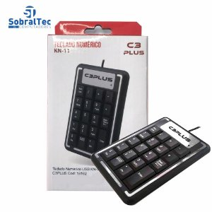 Teclado Numérico Usb Para Notebook E Pc Kn-11bk C3plus