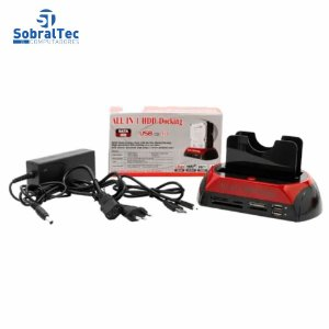 "Docking Station Unidade De Disco Rígido Interno Duplo Caso HDD Enclosure Sata Para 2,5 ""3,5"" SATA Para USB 2.0"