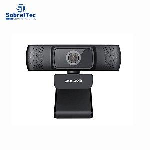 Web Cam Full HD 1080 Ausdom  Af640 Foco Automático Com Cancelamento De Ruído Microfone Câmera