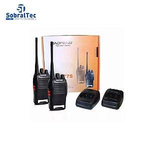 Kit 2 Radio Comunicador Walk Baofeng 777s Alcance 9km + Fone