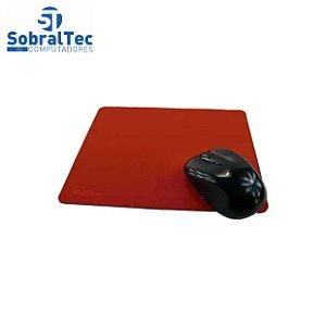 Mouse Pad Base para Mouse de Tecido Vermelha