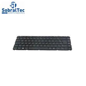 Teclado Notebook Compativel Com Hp Pavilion 14-B -Preto - Br -Sem Frame Flat Normal