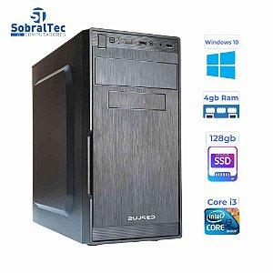 Computador Core i3 - Memória  4GB - HD SSD 128GB - Gabinete  MICRO-ATX MT-23V2BK Com Fonte 200W C3P