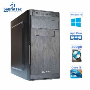 Computador Core i3 - Memória  4GB - HD 500 Gb - Gabinete  MICRO-ATX MT-23V2BK Com Fonte 200W C3P