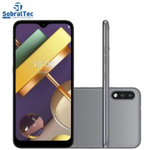Smartphone LG K22+ 64GB Dual Chip LM-K200BAW 13MP+2MP - Titânio