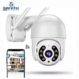 Câmera IP Mini Speed Dome Wi-Fi Externa 3MP-Alerta De Duas Vozes-Detecção Humana-Áudio-IR Visão Noturna À Prova D'água