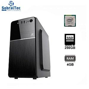Computador Core i3 3220-H61 Wovibo- HD SSD 128GB T650- Memória 4GB- Gabi Micro-Atx Mt-24V2BK