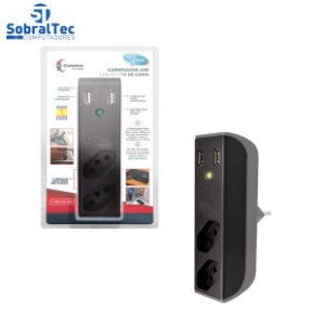 Carregador USB 2,1A+Filtro Bem Ligado FL-USB21GBK