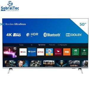 "Smart TV LED 50"" 4K Philips 50PUG6654/78 Com HDR, Dolby Vision, Dolby Atmos, Wi-Fi, Quad Core, Bluetooth, Entradas HDMI"