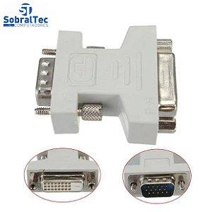 Adaptador DVI Fêmea 24+1 / 24+5 Para VGA Macho