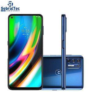 "Smartphone Motorola Moto G9 Plus 128GB Azul Indigo - Octa-Core 4GB RAM 6,8"" Câm. Quádrupla+Selfie 16MP"