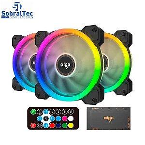 Cooler Fan RGB Gamer Aigo DR12 RGB - 3 em 1 Com Controle