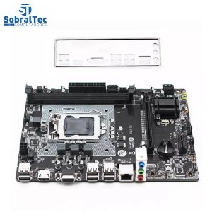 Placa mãe H61M-S1 Lga 1155 Ddr3 Intel i3 i5 i7 Machinist Good Luck 7 Store