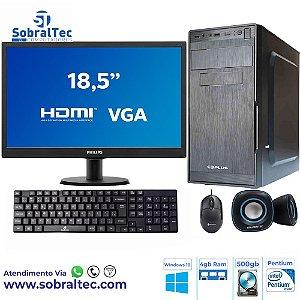 Computador Intel Pentium Dual Core G2020 | 2.90Ghz- HD 500GB- Memória 4GB- Monitor 18,5-Tecaldo e Mouse