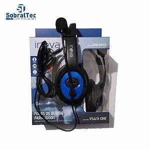 Fone De Ouvido Headphone Com Microfone Inova Fon-8619