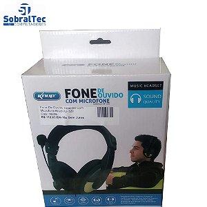 Fone De Ouvido Headset Com Microfone Knup Kp-320