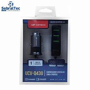 Carreg Veic C/4 Usb Qc3.0 3,4a Ucv-q430bk C3t