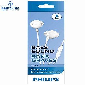 Fone de Ouvido Philips Intra Auricular TAUE101WT/00 Branco