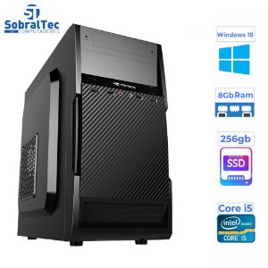 Computador Core i5 -HD SSD 256GB - Memória Ram 8GB- Micro- MT-25V2BK C3Plus- Windows 10