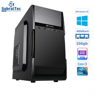 Computador Core i3-HD SSD 256GB - Memória Ram 4GB- Micro- ATX MT-11BK C3Plus- Windows 10