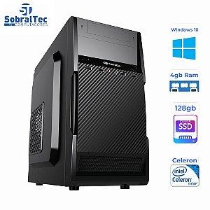 Computador Celeron Dual Core 2,6Ghz -HD SSD 128GB - Memória Ram 4GB- Micro- ATX MT-11BK C3Plus- Windows 10