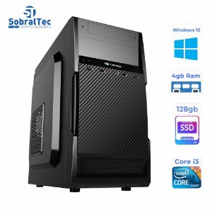 Computador Core i3-HD SSD 128GB - Memória Ram 4GB- Micro- ATX MT-11BK C3Plus- Windows 10