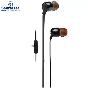 Fone de Ouvido Bluetooth JBL T115BTBLK - Intra-Auricular com Microfone Preto