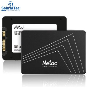HD SSD 120GB Sata 3 500mb/s para Leitura e 350mb/s para Gravação Netac Black
