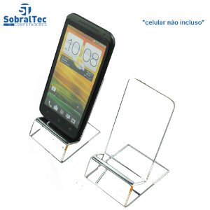 Suporte Para Smartphone Em Acrílico Transparente