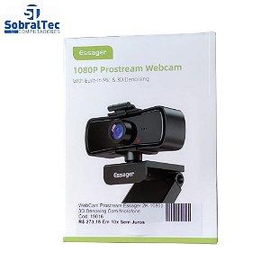 WebCam Prostream Essager 2K 1080p 3D Denosing  Com Microfone