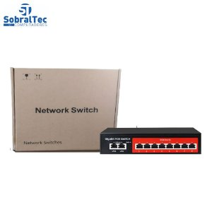 Switch Gigabit Poe 8 Portas - SSC GPOE208