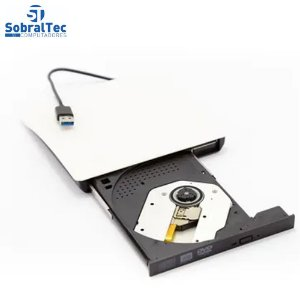 DVD Reader and Recorder  - Slim Drive USB 3.0 - WHITE