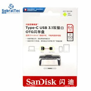 Pen Drive 32Gb Dual Drive Tipo-C  e USB 3.1  SanDisk