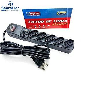 Protetor Eletrico Super Premium 5 Tomadas 5 Metros Emplac