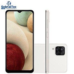 "Smartphone Samsung Galaxy A12 64GB 4G - Octa-Core 4GB RAM 6,5"" Câm. Quádrupla + Selfie 8MP"