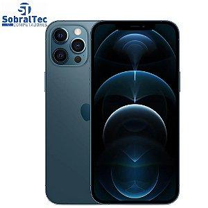 "iPhone 12 Pro Max Apple 128GB Azul-Pacífico Tela de 6,7"", Câmera Tripla de 12MP, iOS"