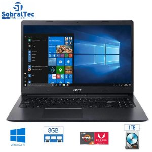 "Notebook Acer Aspire 3 A315-23G-R24V AMD Ryzen 5 - 8GB 1TB 15,6"" LED Placa de Vídeo 2GB Windows 10"