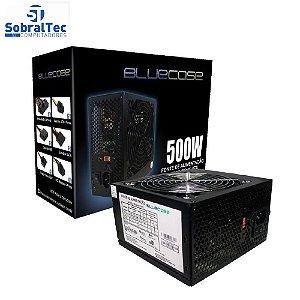 Fonte de Alimentacao 500W Com Cabo Com Caixa (Blu500-e Atx) - Bluecase