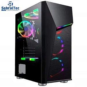 Gabinete Gamer Bg-020 Preto Bluecase - Sem Fonte / Led Rgb / Usb 3.0
