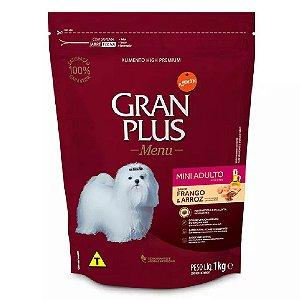 Ração Gran Plus Menu Cães Adultos Mini Frango e Arroz 1kg