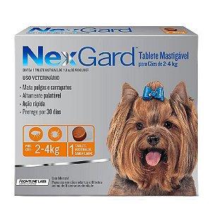 Nexgard Antipulgas e Carrapatos Cães 2 a 4Kg - 1 tablete