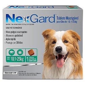 Nexgard Antipulgas E Carrapatos Cães 10 A 25kg - 1 tablete